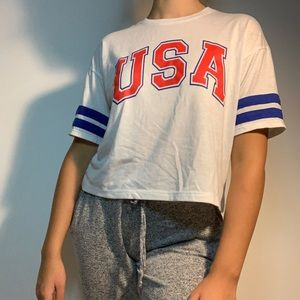 USA crop top from target (modernlux)